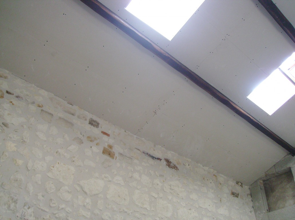 Isolation du toit en placo