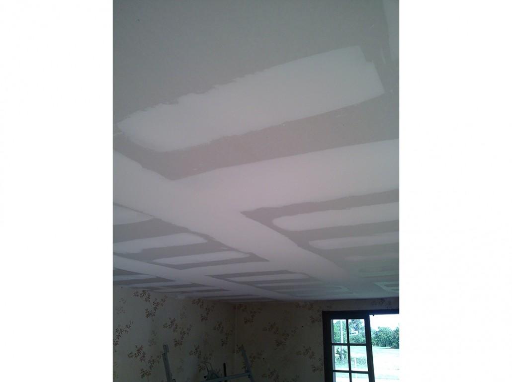 Isolation plaquiste plafond