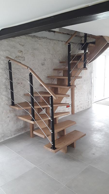 Pose escalier en Charente