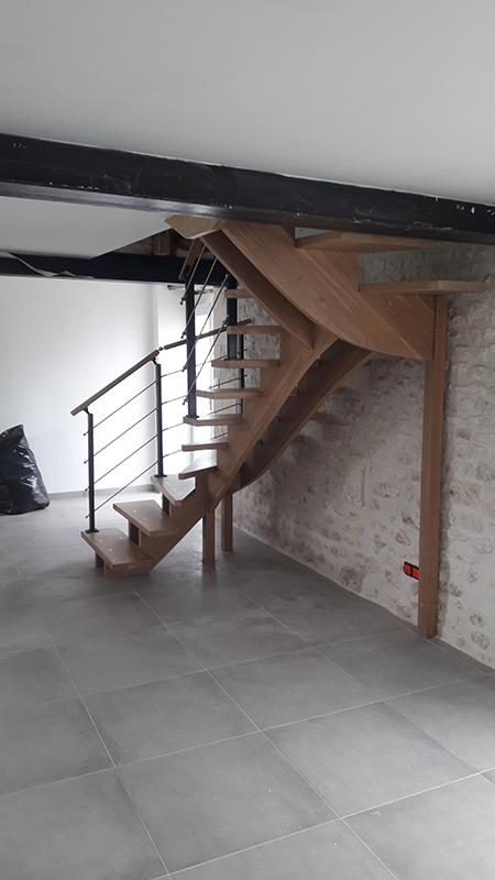 Pose escalier à Cognac en Charente